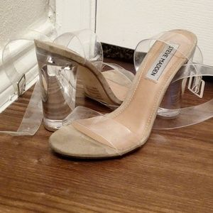 Clear Steve Madden Strappy Heels